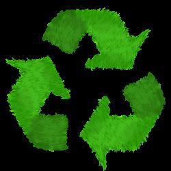 logo recyclage en herbe